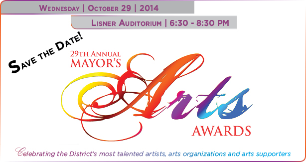 Save the Date! 29th Mayor's Arts Awards
