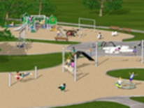 Lafayette Play DC Playground Project - New Playground Equipment Rendering 2