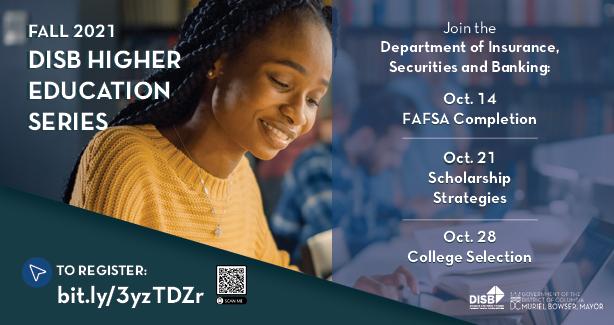 Fall 2021 DISB Higher Education Series