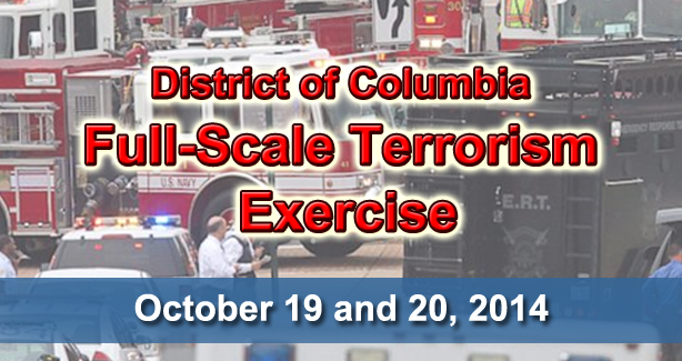 Full-Scale Terrorism Exercise Banner