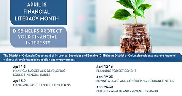DISB Celebrates April as National Financial Literacy Month!