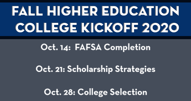 Fall Higher Education College Kickoff 2020