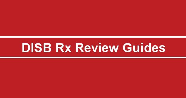 DISB Rx Review Guides