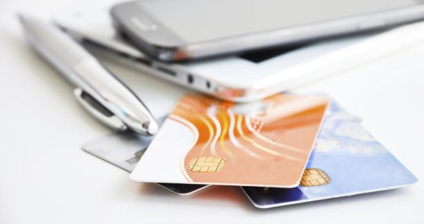 picture of credit cards and mobile phones