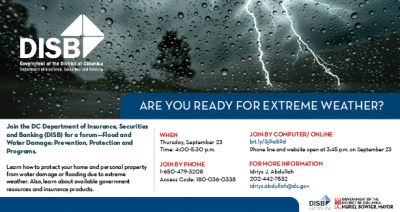 Sept. 23 Flood and Water Damage Forum